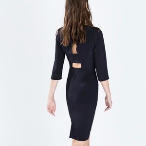 Zara navy dress with cut out